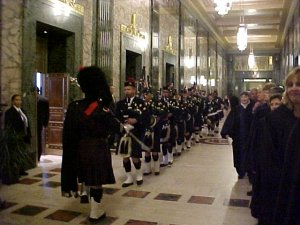 Members of the Cleveland Firefighters Memorial Pipes & Drum were featured during the ceremony.