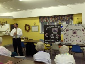 Judge Hany discussing court operations with Port Clinton Seniors